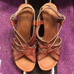Arizona wedge sandals (NWOT)